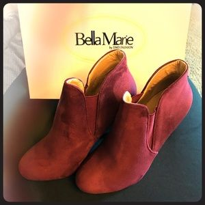 New Bella Marie Soft Round Toe Stiletto Booties